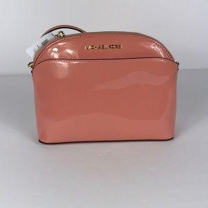 Michael a Kors Emmy Peach Md Crossbody Leather